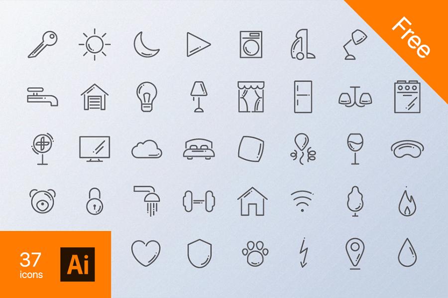 家庭常规免费图标 Home Routine Free Icons插图